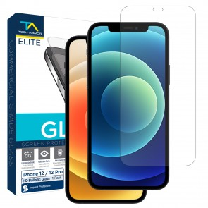 Tech Armor ELITE Ballistic Glass Screen Protector for Apple iPhone 12/12 Pro - [1-Pack]