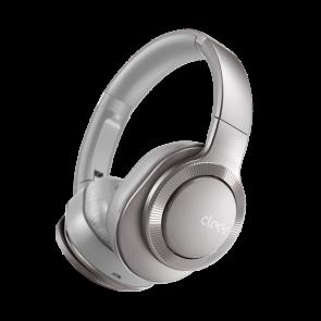 Cleer Audio FLOW II Wireless Hybrid Noise Cancelation Headphone with Google Assistant Light Metallic