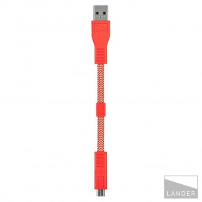 Lander Neve USB to Micro Cable 6 in Red