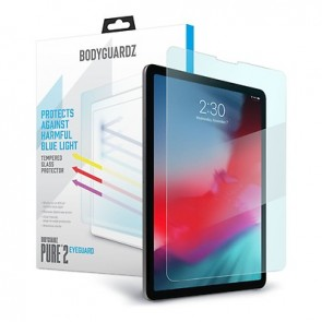 "BodyGuardz Pure 2 Eyeguard Glass Screen Protector Blue Light, Apple iPad Pro 12.9"" (3rd/4th Gen)"