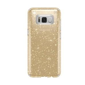 Speck Samsung Galaxy S8 Presidio Clear + Glitter - Clear with Gold Glitter/Clear