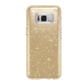 Speck Samsung Galaxy S8+ Presido Clear + Glitter Clear with Gold Glitter/Clear