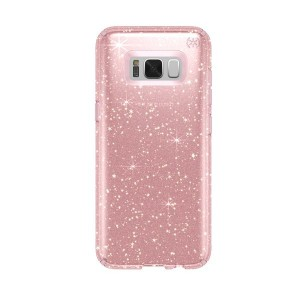 Speck Samsung Galaxy S8 Presidio Clear + Glitter - Rose Pink with Gold Glitter/Rose Pink