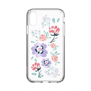 Speck iPhone XR PRESIDIO CLEAR + PRINT CANOPYFLORAL LAVENDER/CLEAR