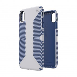 Speck iPhone Xs Max PRESIDIO GRIP MICROCHIP GREY/BALLPOINT BLUE