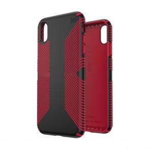 Speck iPhone Xs Max PRESIDIO GRIP BLACK/DARK POPPY RED