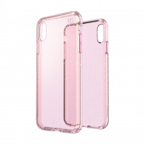 Speck iPhone Xs Max PRESIDIO CLEAR + GLITTER BELLA PINK WITH GOLD GLITTER/BELLA PINK