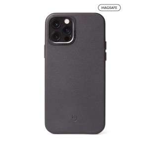 DECODED Leather Backcover - MagSafe iPhone 12 Pro Max (6.7 inch) Black