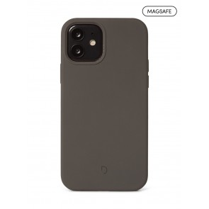 Decoded Silicone Backcover with MagSafe for iPhone 12/12Pro Charcoal
