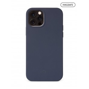 Decoded Silicone Backcover with MagSafe for iPhone 12/12Pro Matte Navy