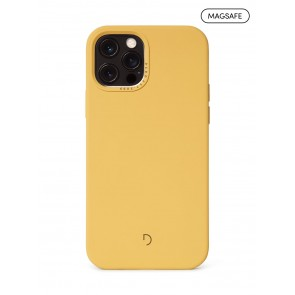 Decoded Silicone Backcover with MagSafe for iPhone 12/12Pro Powder Yellow