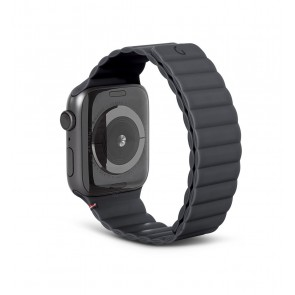 Decoded Silicon Magnetic Traction Strap for Apple Watch Series 1-6/SE 42/44mm Charcoal
