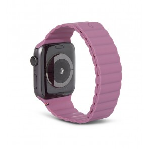 Decoded Silicon Magnetic Traction Strap for Apple Watch Series 1-6/SE 42/44mm Mauve
