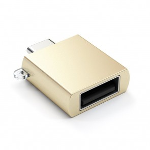 SATECHI Type-C - Type A USB Adapter Gold