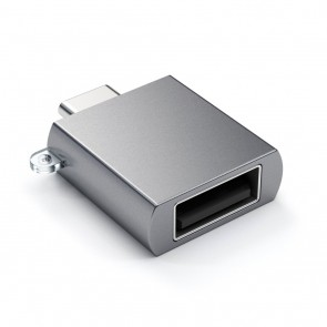 SATECHI Type-C - Type A USB Adapter Space Gray