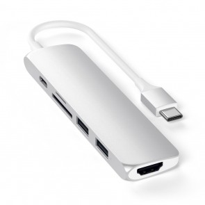 SATECHI TYPE-C Slim Multiport Adapter V2 Silver