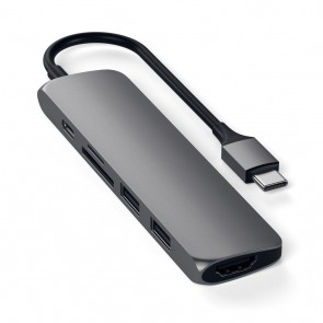 SATECHI TYPE-C Slim Multiport Adapter V2 Space Gray