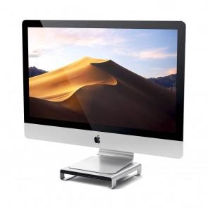 SATECHI Aluminum Monitor Stand Hub for iMac Silver