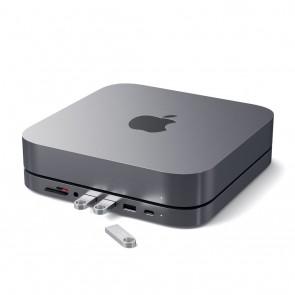 SATECHI Aluminum Stand Hub for Mac Mini Space Gray