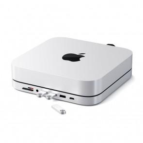 SATECHI Aluminum Stand Hub for Mac Mini Silver