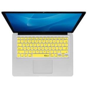 KB Covers KB Covers Checkerboard Keyboard Cover for MacBook, MacBook Air 13 inch, and MacBook Pro (Unibody) - Clear w/ Yellow Buttons (CB-M-Yellow)