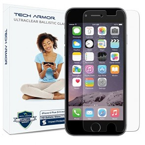 Tech Armor Ballistic Glass Screen Protector for Apple iPhone 6/6s Plus/7 Plus/8 Plus - 1-pack