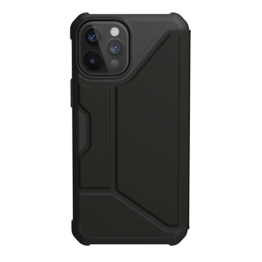 Urban Armor Gear Metropolis Folio Wallet Case For iPhone 12/iPhone 12 Pro - Black