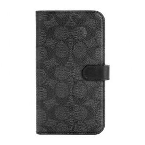 Coach Folio Case for iPhone 12 mini - Signature C Black