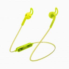 Candywirez Wireless Flat Translucent Ear Buds - Neon Yellow