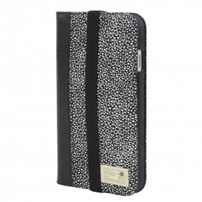 HEX ICON WALLET FOR iPhone 8 BLACK/WHITE STINGRAY LEATHER