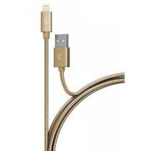 CandyWirez 3ft Stainless Steel Lightning Cables - Gold