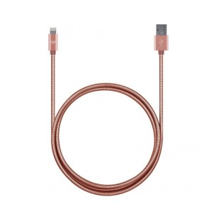 CandyWirez 3ft Stainless Steel Lightning Cables - Rose Gold