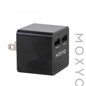 Moxyo MXY Wall Adapter Double 2.4A + 1A Black