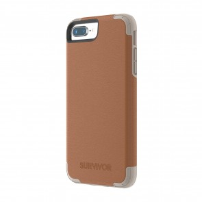 Griffin Survivor Prime - Brown Leather - iPhone 8 Plus/7 Plus/6 Plus/6S Plus