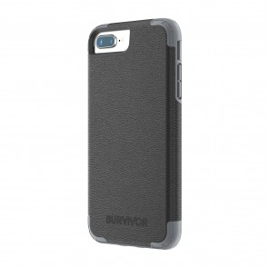 Griffin Survivor Prime - Black Leather - iPhone 8 Plus/7 Plus/6 Plus/6S Plus