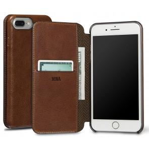 Sena UltraThin Walletbook Cognac iPhone 8/7 Plus