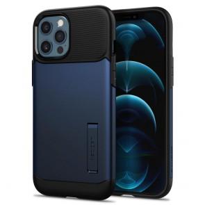 Spigen iPhone 12 Pro Max Case Slim Armor Navy Blue