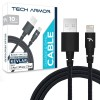 Tech Armor Kevlar lined 8 pin Lightning USB cable, 2 ft, braided, black
